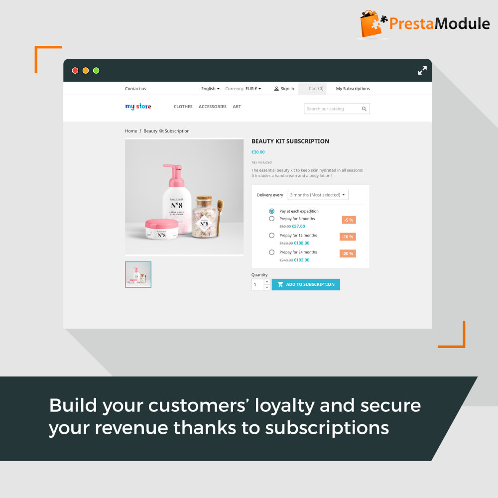 module - Abonnementen - Advanced Subscription with automatic recurring payments - 1