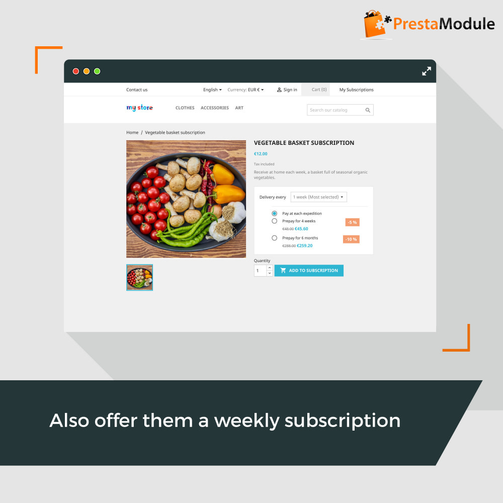 module - Abonnementen - Advanced Subscription with automatic recurring payments - 2