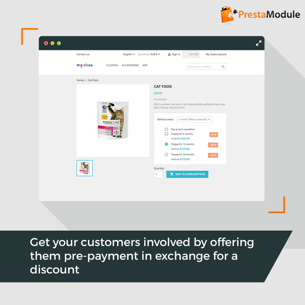 module - Abonnementen - Advanced Subscription with automatic recurring payments - 3