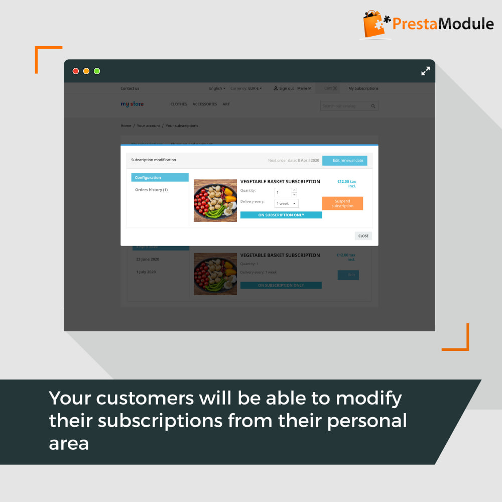 module - Abonnementen - Advanced Subscription with automatic recurring payments - 6