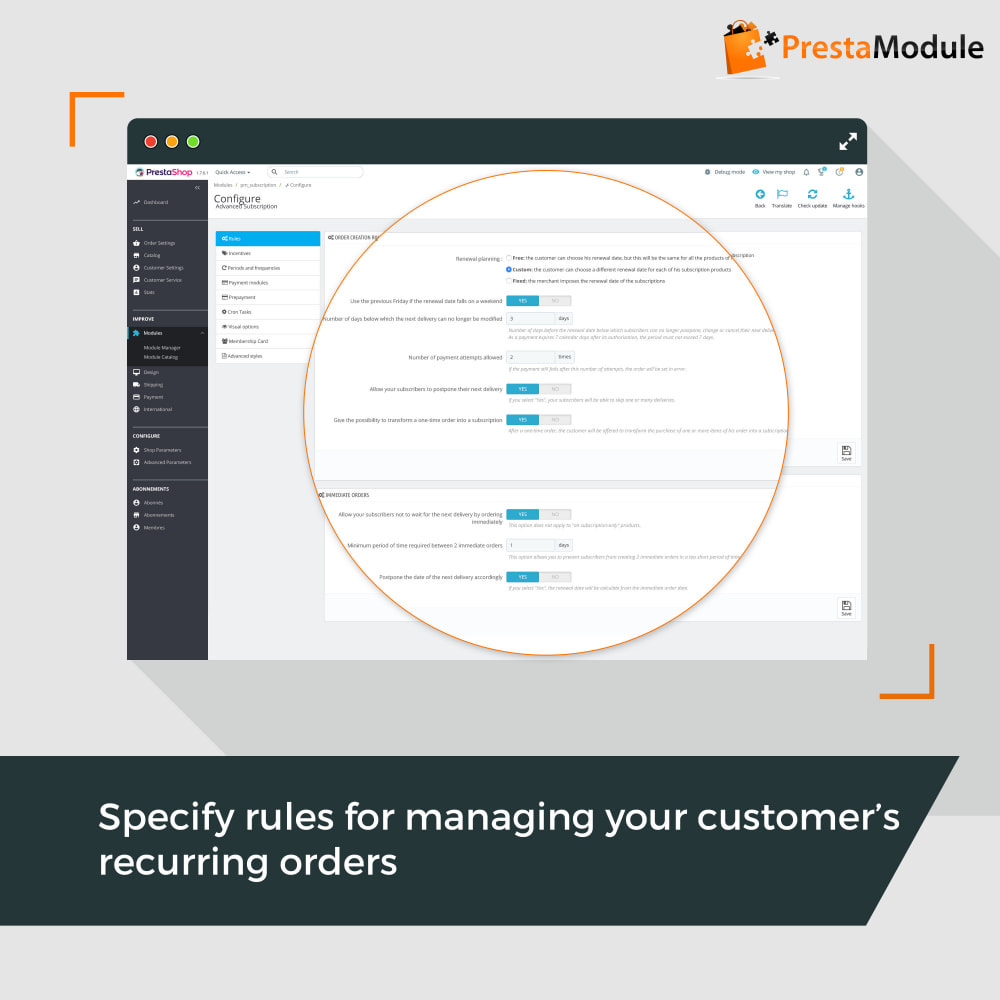 module - Abonnementen - Advanced Subscription with automatic recurring payments - 7