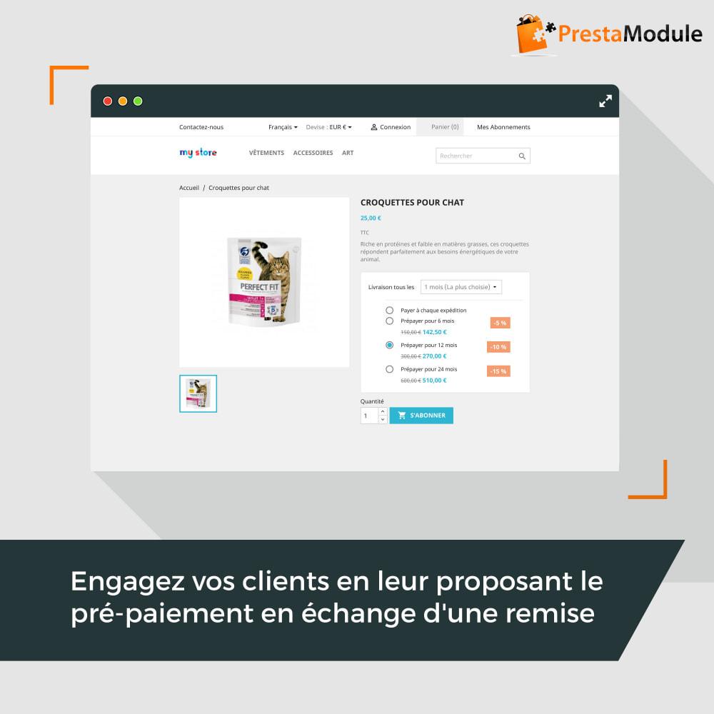 module - Abonnement (box) - Advanced Subscription: Abonnement & paiement récurrent - 3