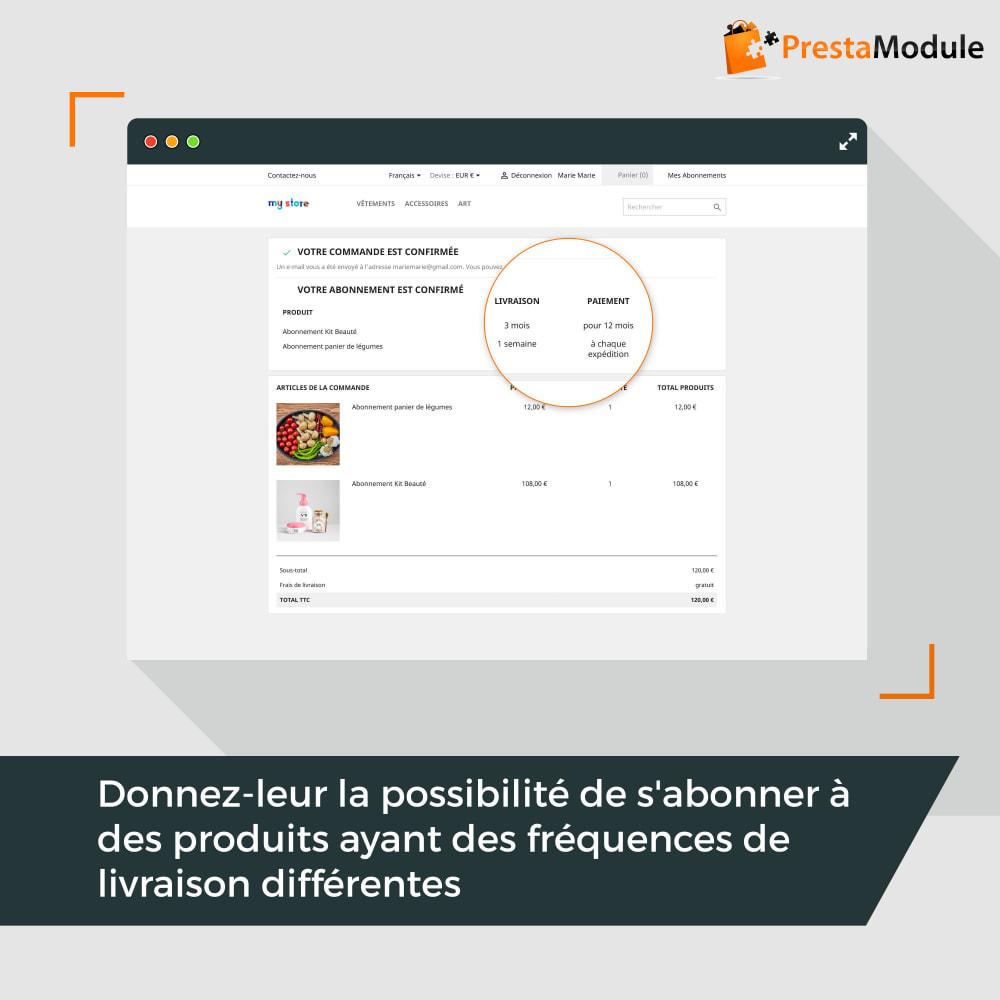 module - Abonnement (box) - Advanced Subscription: Abonnement & paiement récurrent - 5