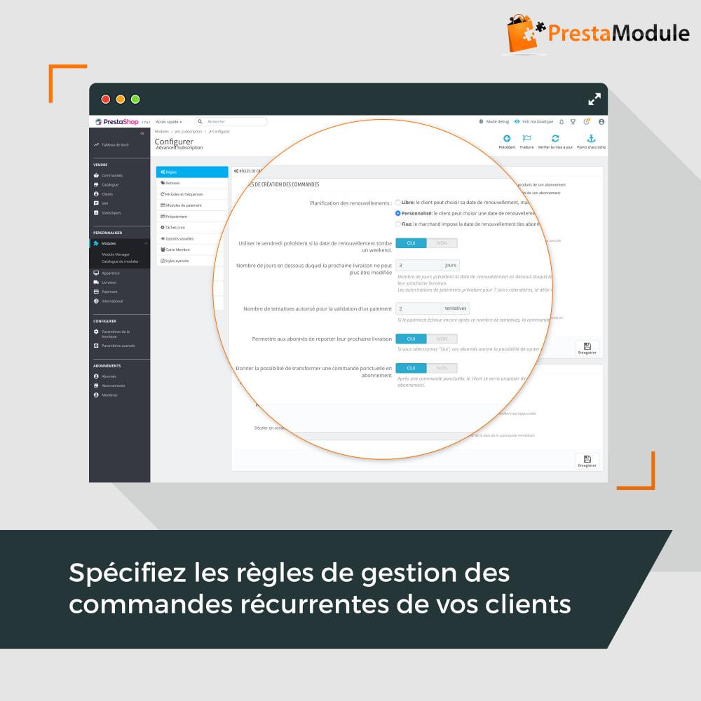 module - Abonnement (box) - Advanced Subscription: Abonnement & paiement récurrent - 7