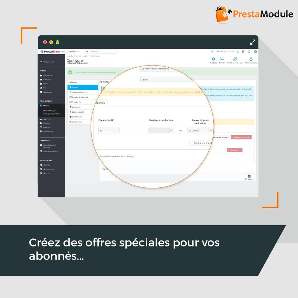 module - Abonnement (box) - Advanced Subscription: Abonnement & paiement récurrent - 11
