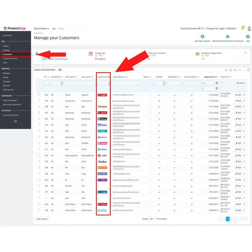 module - Купоны на скидку для социальных сетей - Multilogin + Coupons + MailChimp + Statistics (30 in 1) - 15
