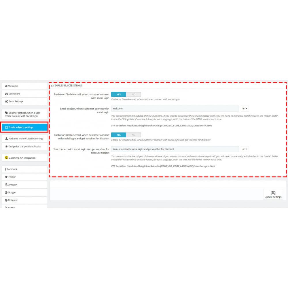 module - Купоны на скидку для социальных сетей - Multilogin + Coupons + MailChimp + Statistics (30 in 1) - 18