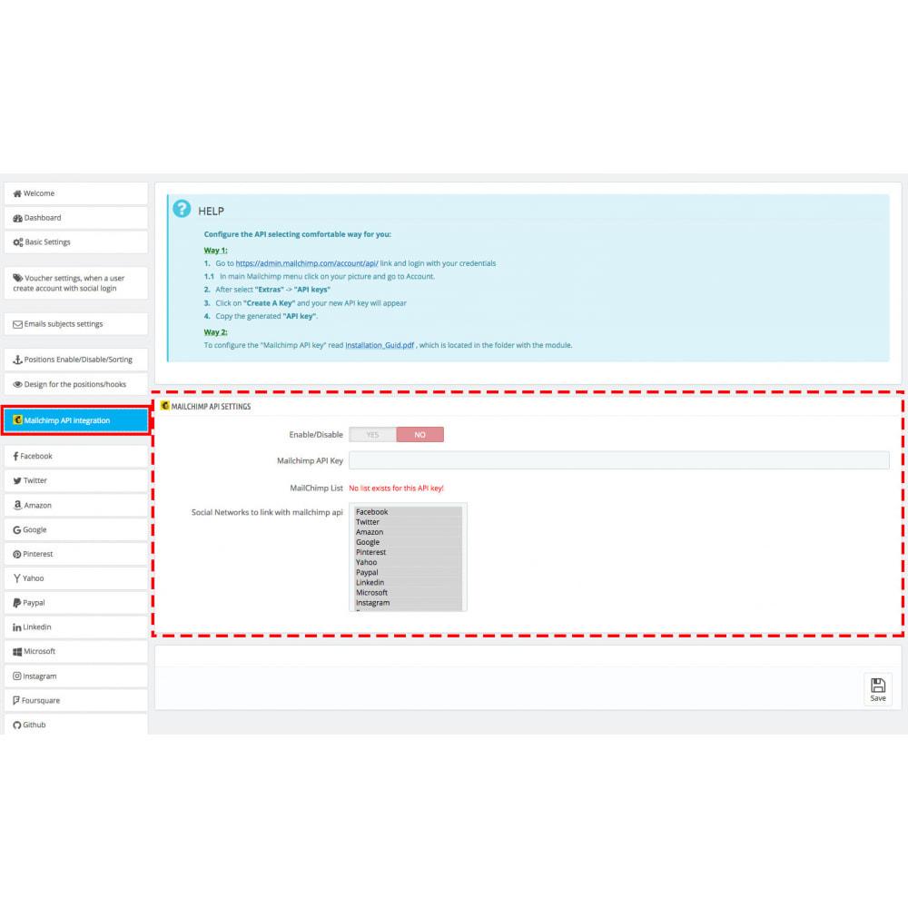 module - Купоны на скидку для социальных сетей - Multilogin + Coupons + MailChimp + Statistics (30 in 1) - 19