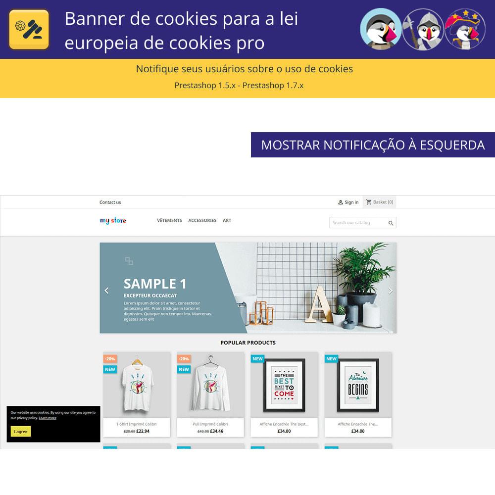 module - Jurídico - Cookies do Banner Pro para regras europeias de cookies - 2