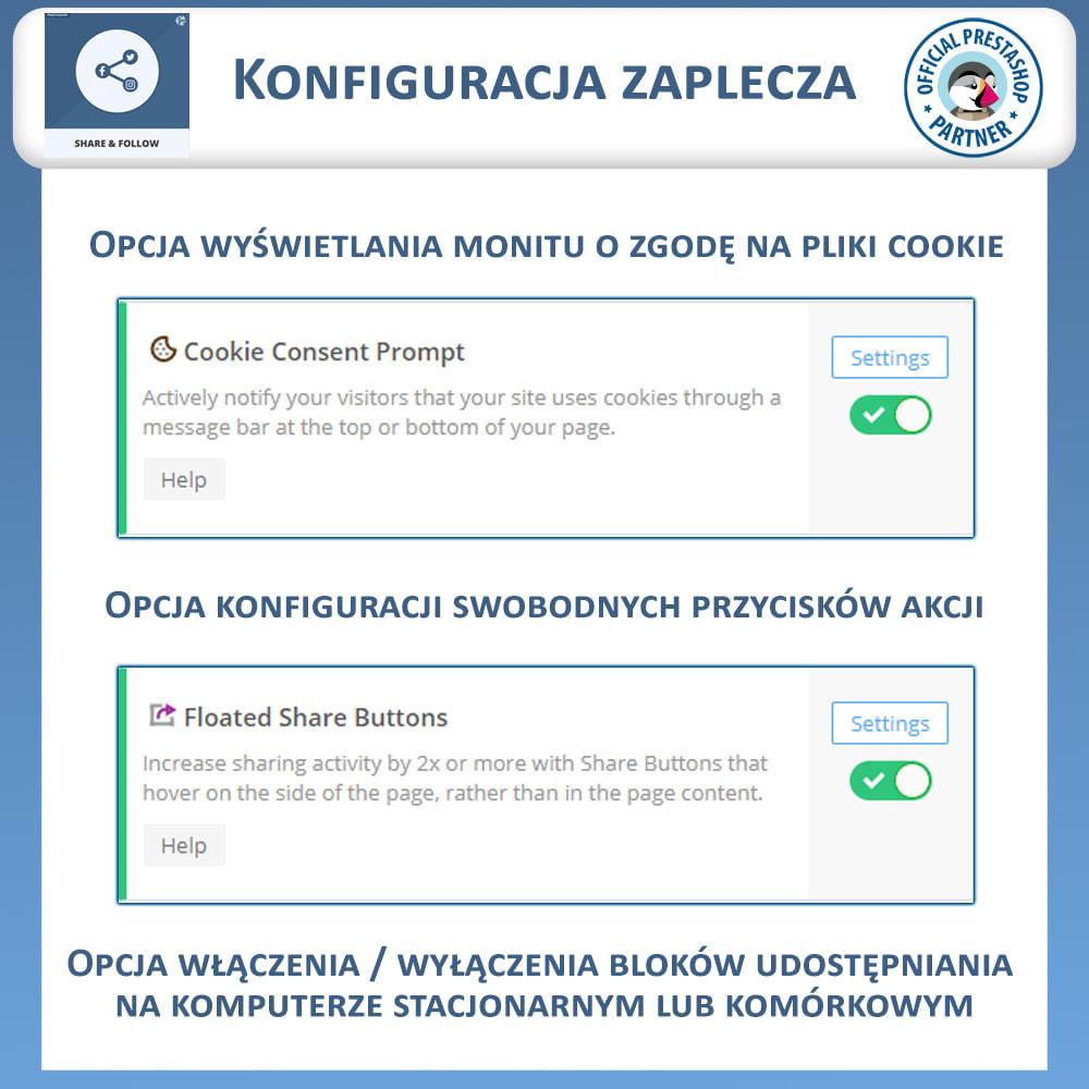 module - Przyciski udostępniania & Komentarze - Udostępnij i śledź - Widget Społecznościowy - 7