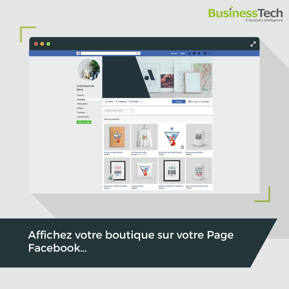 module - Produits sur Facebook & réseaux sociaux - Facebook Dynamic Ads + Pixel & Boutiques - 3