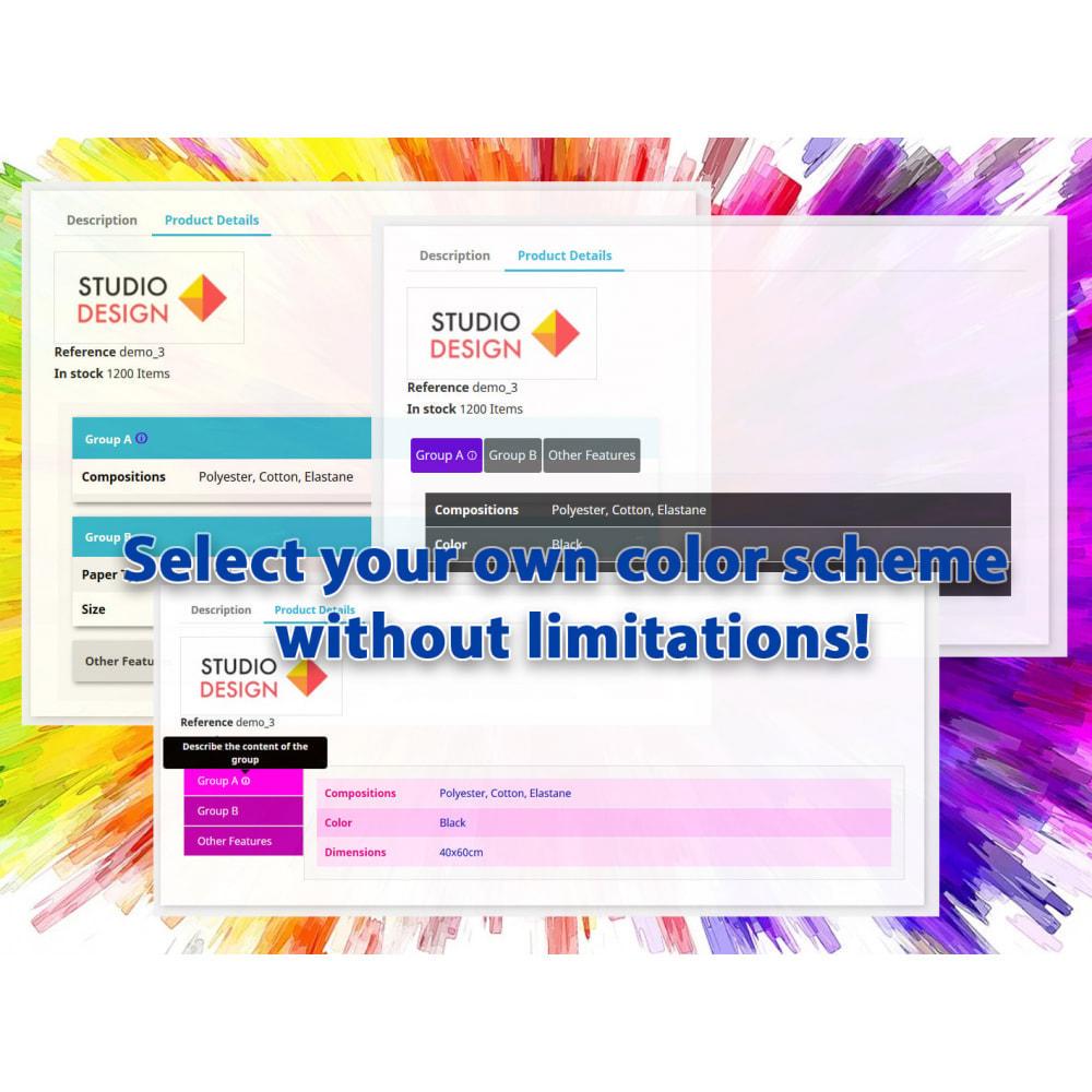 module - Дополнительной информации и вкладок товара - DataSheet Pro - product features - 2