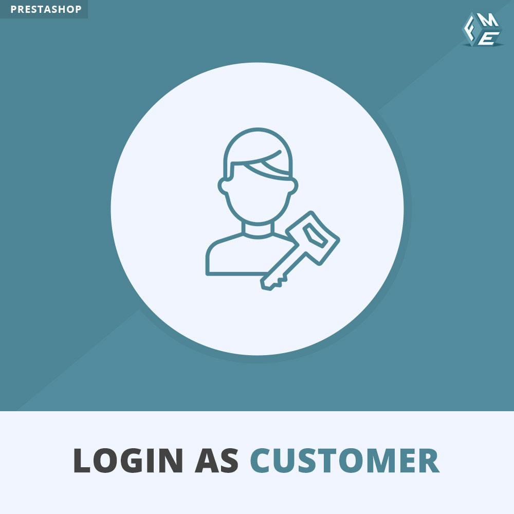 module - Customer Service - Login as Customer - 1