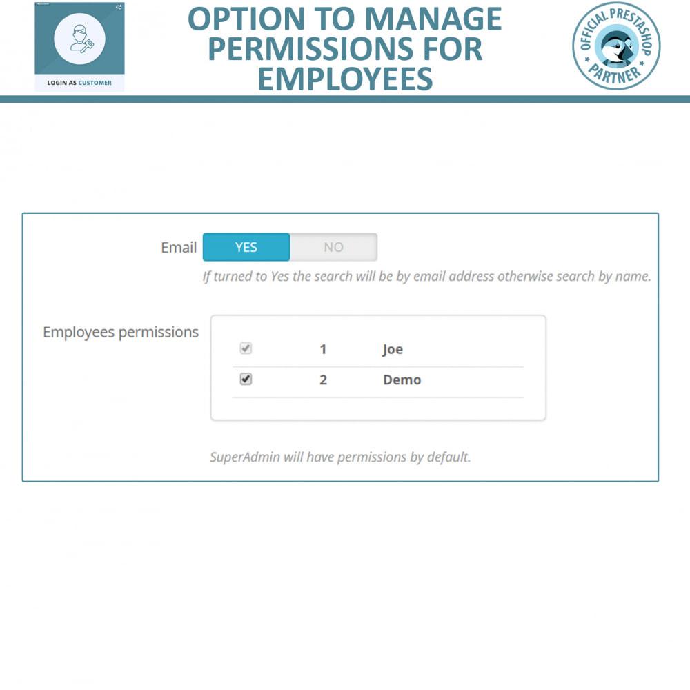 module - SAC - Login as Customer for Admin | Access User Account - 3