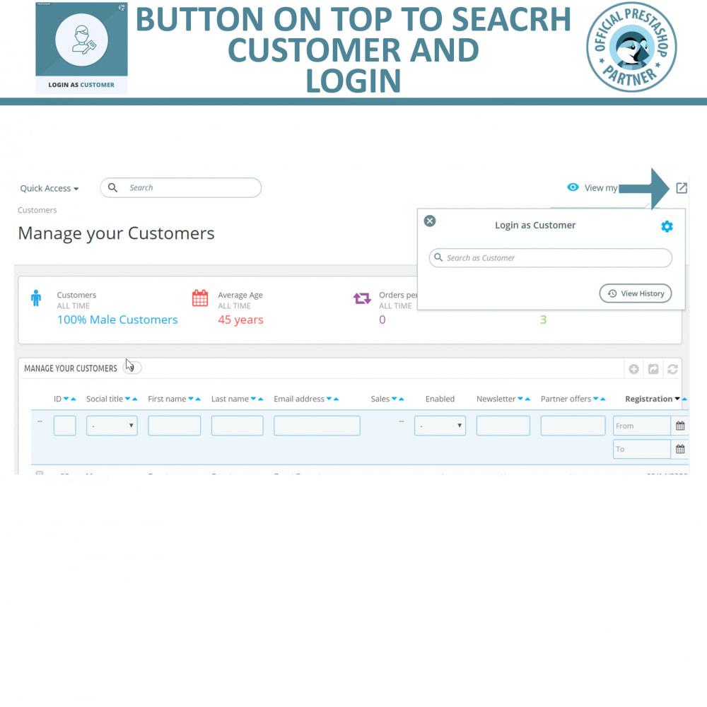 module - Customer Service - Login as Customer - 4