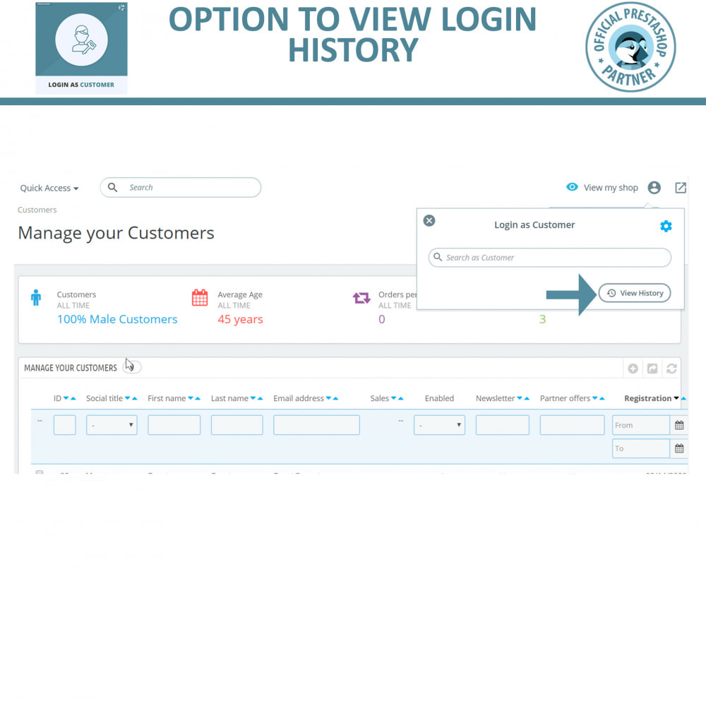 module - SAC - Login as Customer for Admin | Access User Account - 5