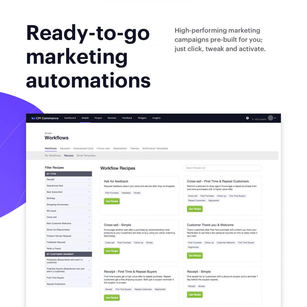 module - Remarketing & Achtergelaten winkelmanden - Email Marketing with CM Commerce - 2