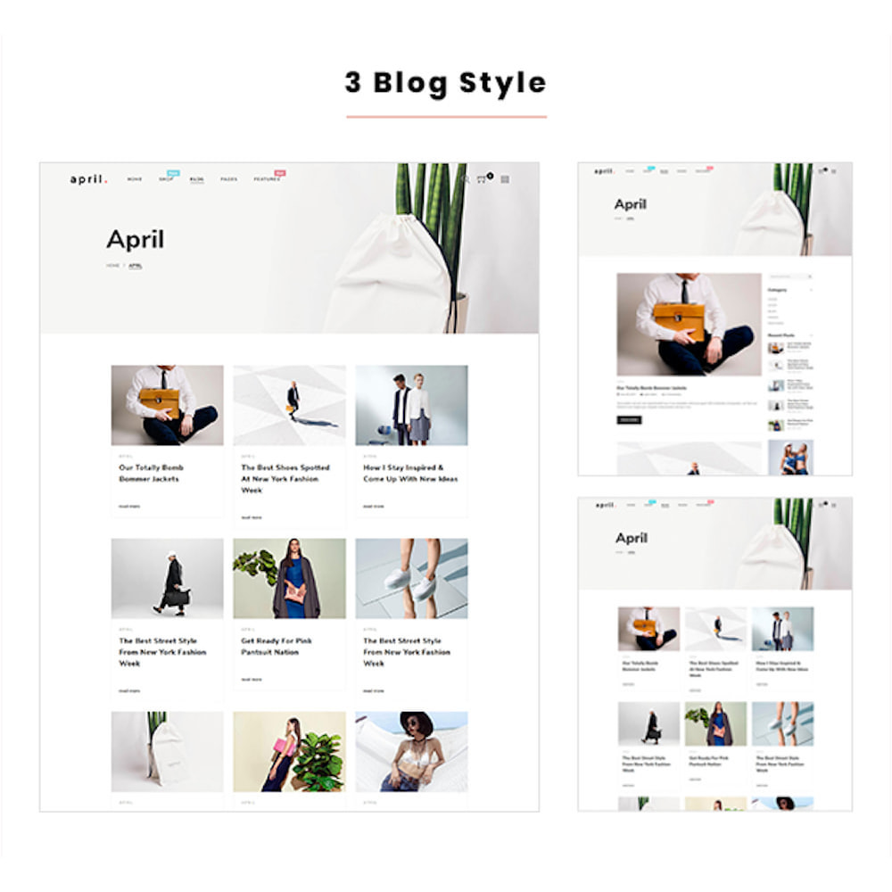 theme - Fashion & Shoes - April  Store eCommerce Bootstrap 4 - 6