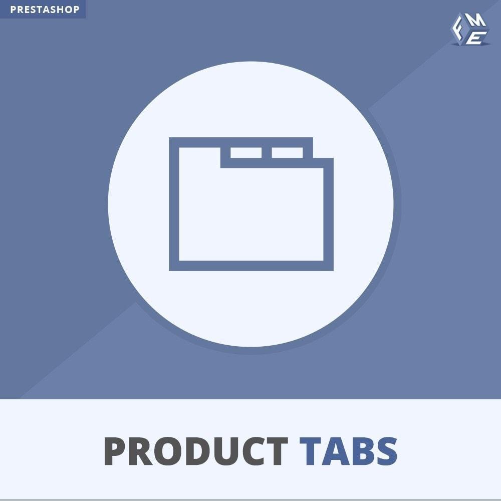 module - Bijkomende Informatie - Product Tabbladen - Voeg aangepaste tabbladen toe - 1