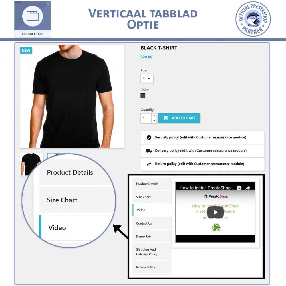 module - Bijkomende Informatie - Product Tabbladen - Voeg aangepaste tabbladen toe - 3