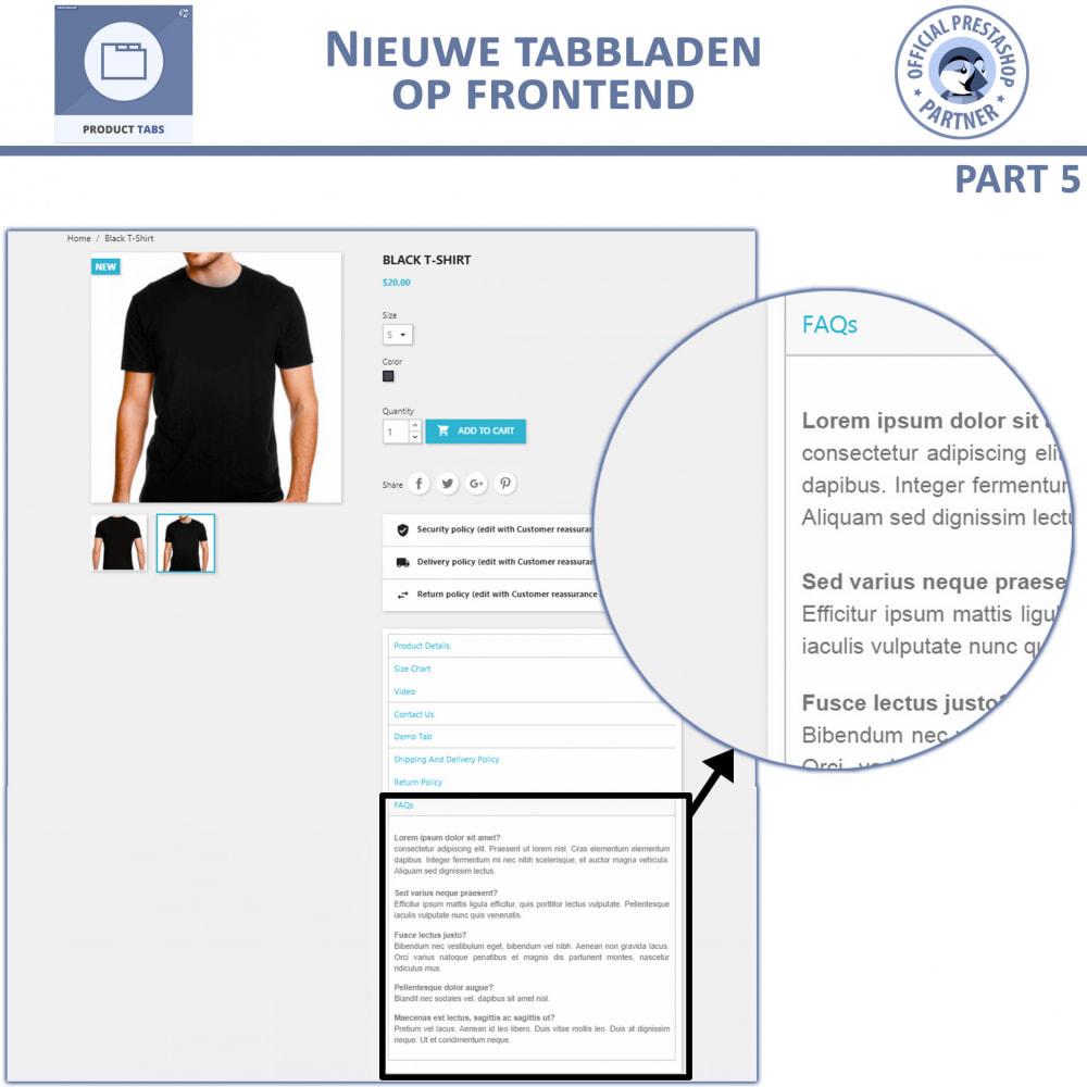 module - Bijkomende Informatie - Product Tabbladen - Voeg aangepaste tabbladen toe - 4