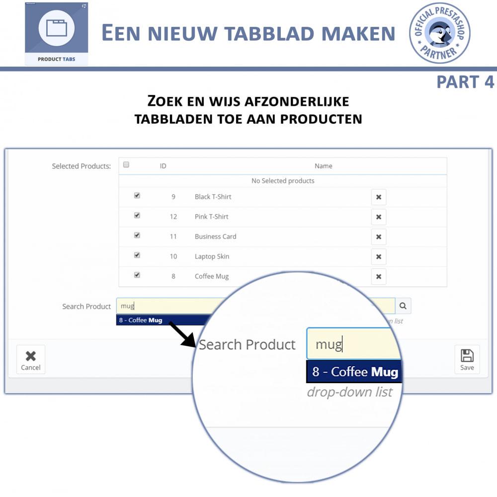module - Bijkomende Informatie - Product Tabbladen - Voeg aangepaste tabbladen toe - 9