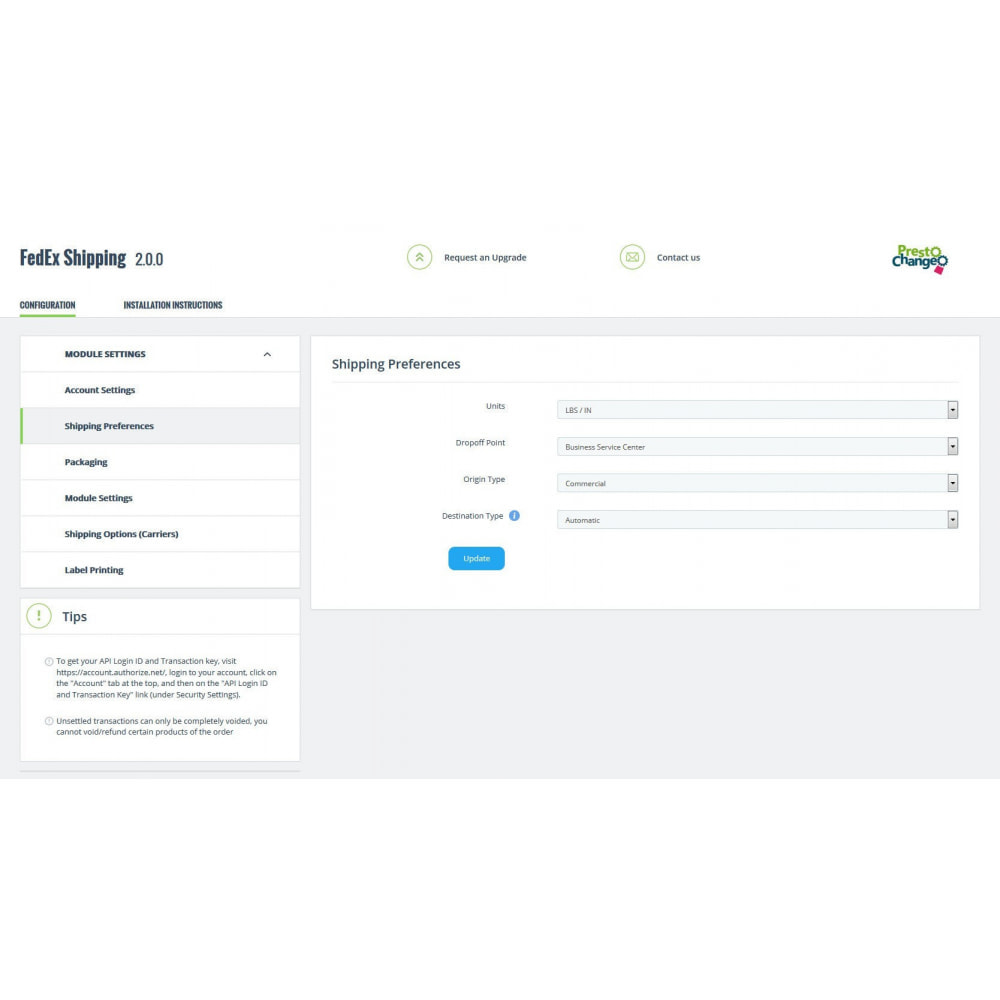module - Отслеживание заказа - FedEx Shipping + Label Printing - 6