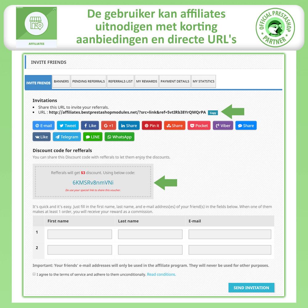 module - Betaalde vermelding & Lidmaatschap - Affiliate en verwijzingsprogramma - 3