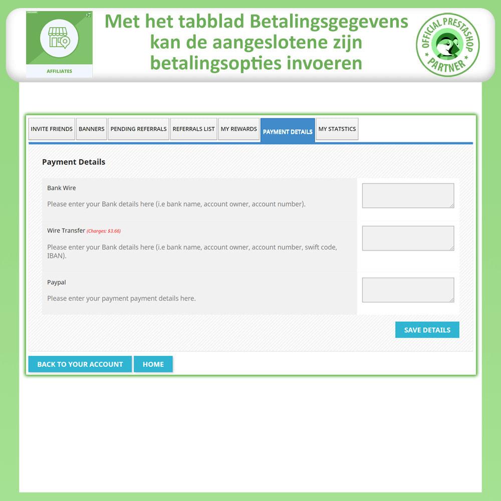 module - Betaalde vermelding & Lidmaatschap - Affiliate en verwijzingsprogramma - 6
