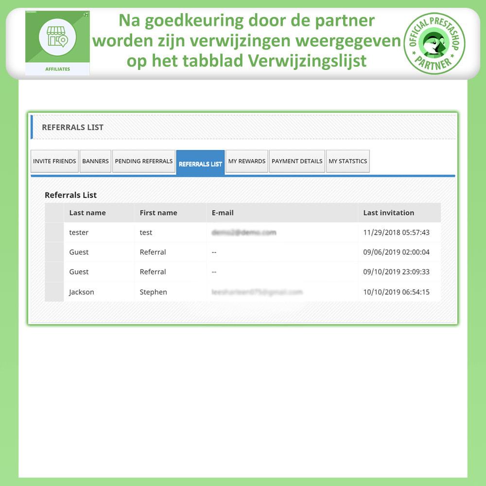 module - Betaalde vermelding & Lidmaatschap - Affiliate en verwijzingsprogramma - 8