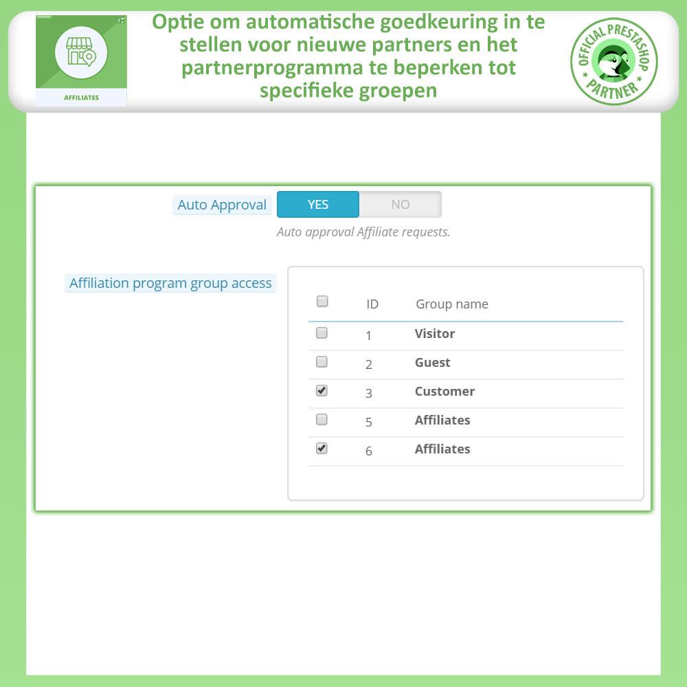 module - Betaalde vermelding & Lidmaatschap - Affiliate en verwijzingsprogramma - 11