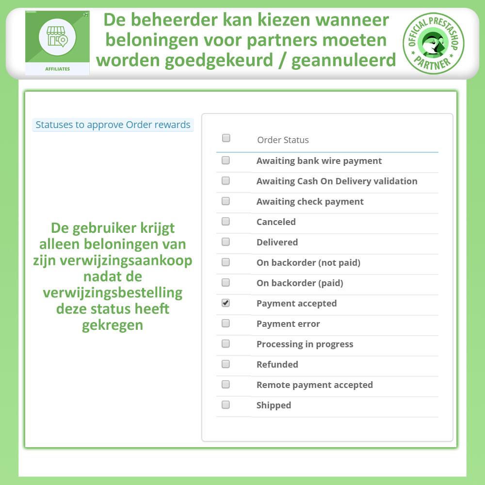module - Betaalde vermelding & Lidmaatschap - Affiliate en verwijzingsprogramma - 12