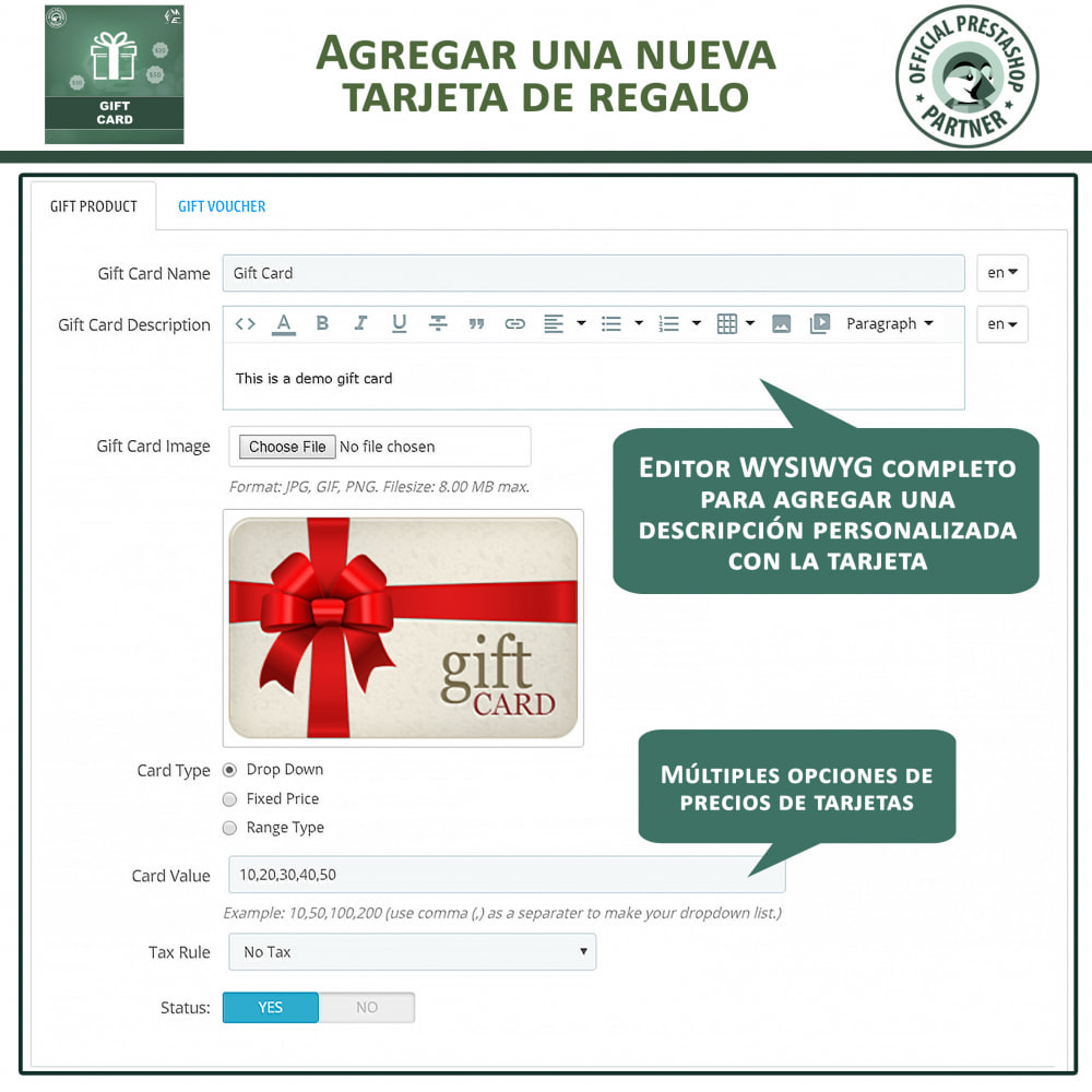 module - Lista de deseos y Tarjeta regalo - Tarjeta de Regalo - 11