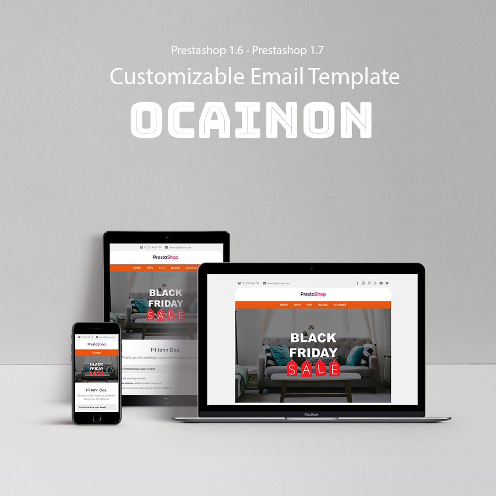 email - Szablony e-mail PrestaShop - Ocainon - Template emails and for emails of module - 1