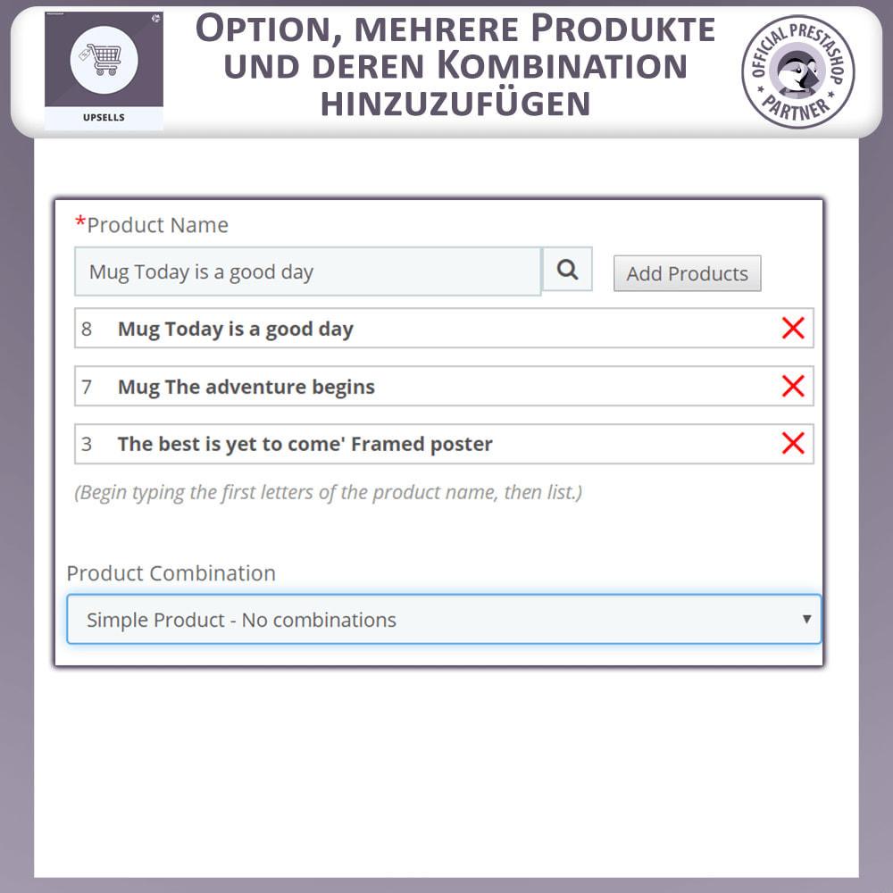 module - Cross-Selling & Produktbundles - Upsell Products - Push on Cart - 3