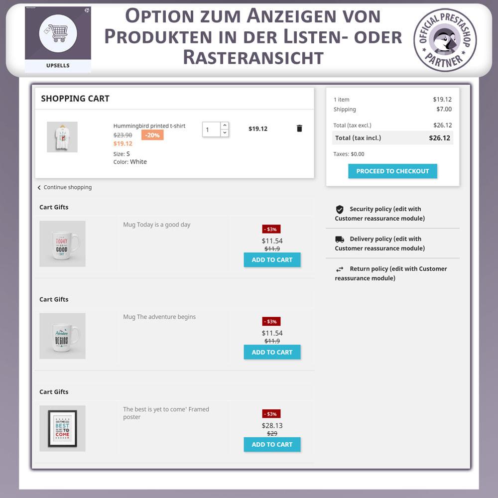 module - Cross-Selling & Produktbundles - Upsell Products - Push on Cart - 5