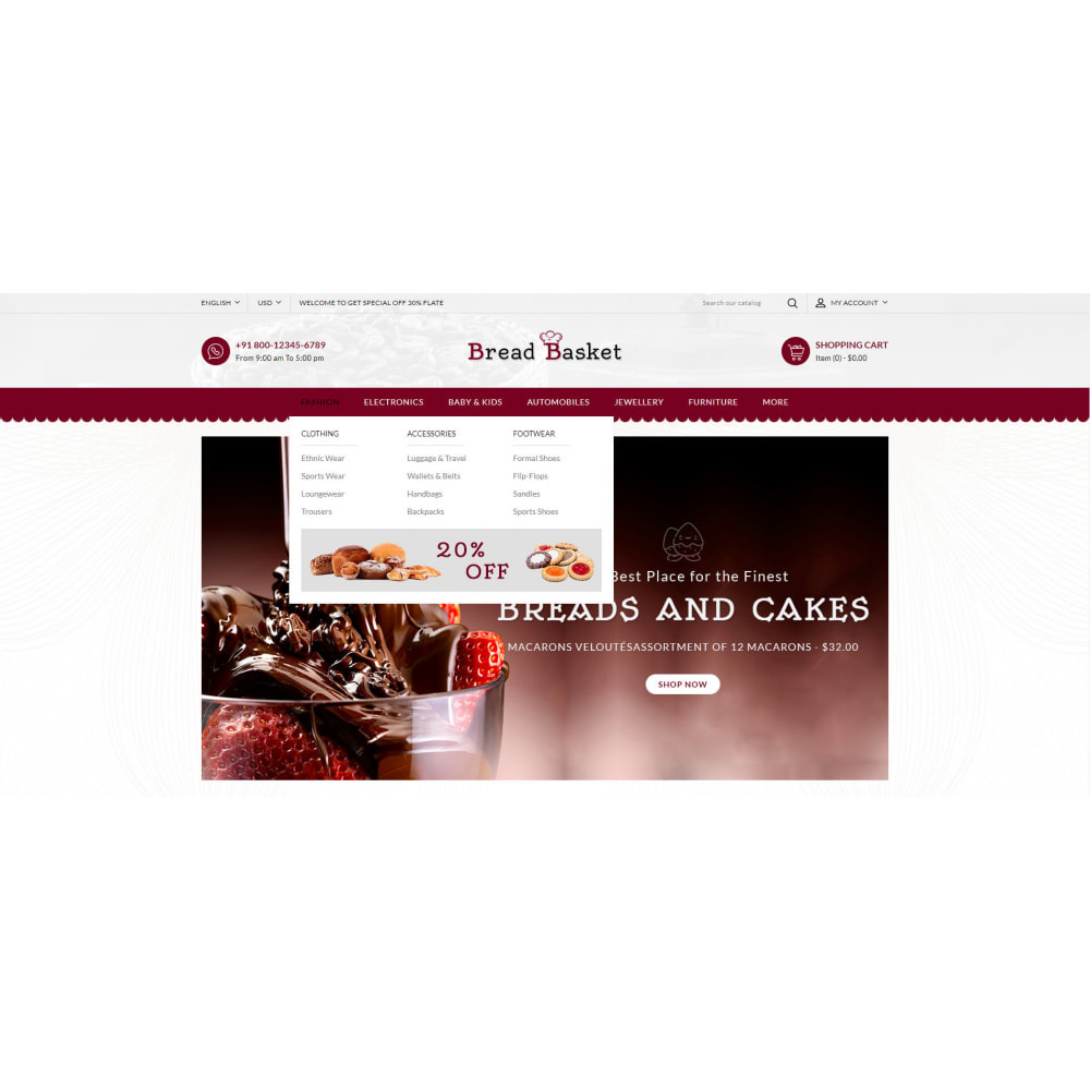 theme - Food & Restaurant - Bread Basket - Bakery Shop - 6