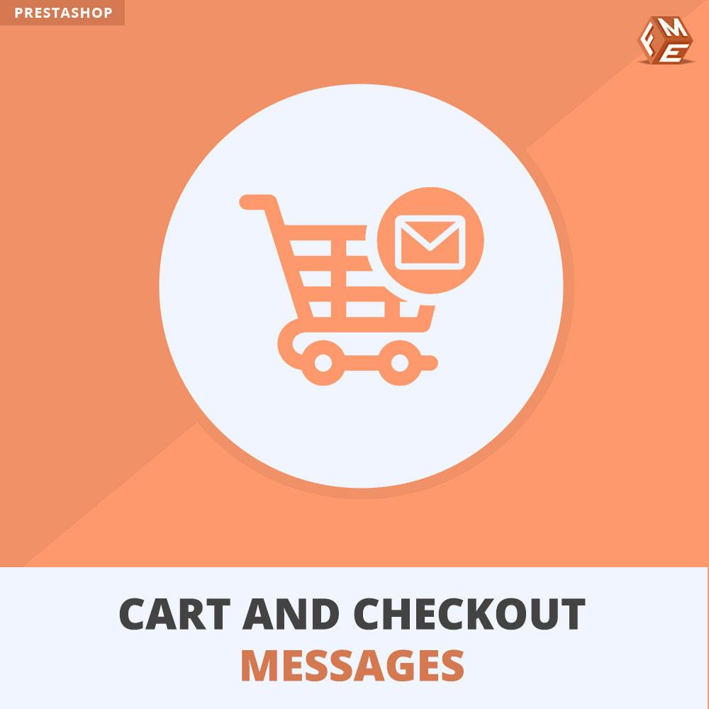 module - Inscription & Processus de commande - Messages de Panier et De Paiement - 1