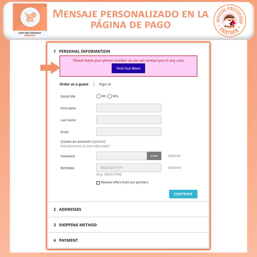 module - Inscripción y Proceso del pedido - Carro y Revisa Mensajes - 3