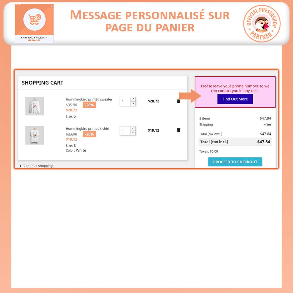 module - Inscription & Processus de commande - Messages de Panier et De Paiement - 2