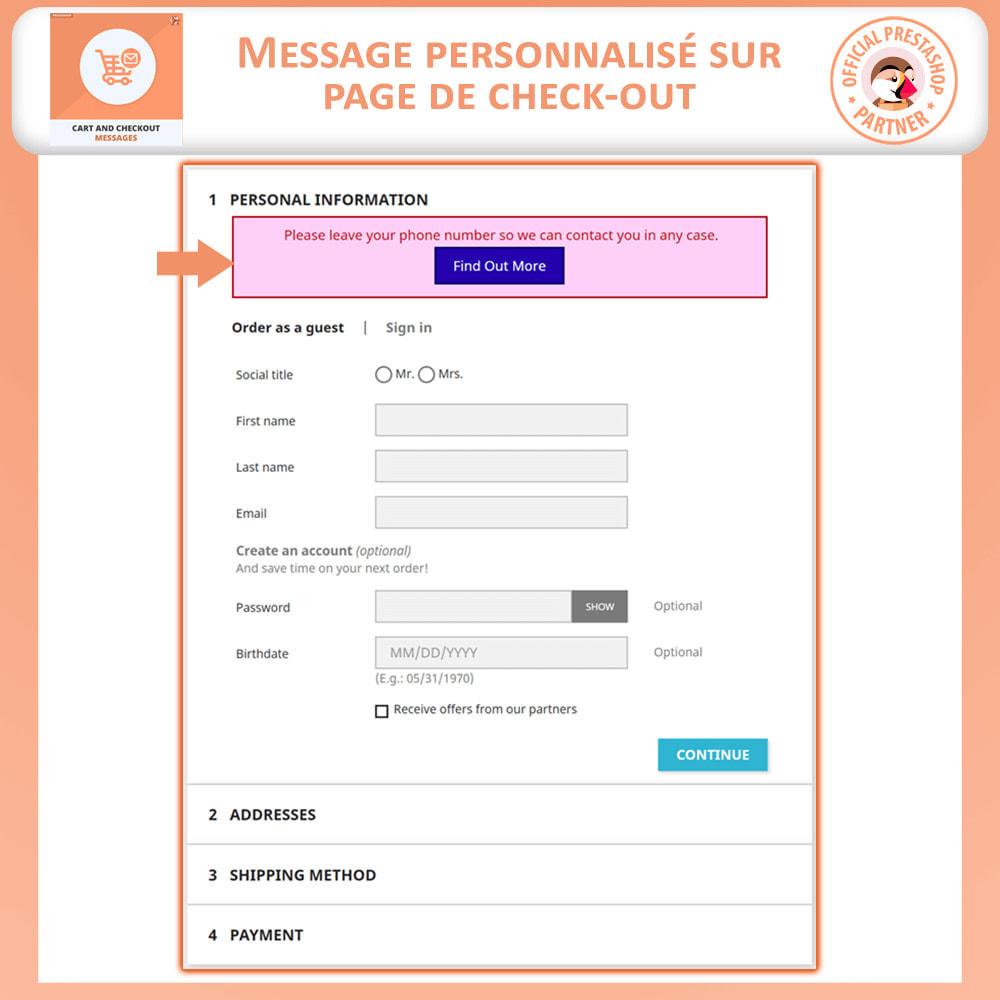 module - Inscription & Processus de commande - Messages de Panier et De Paiement - 3