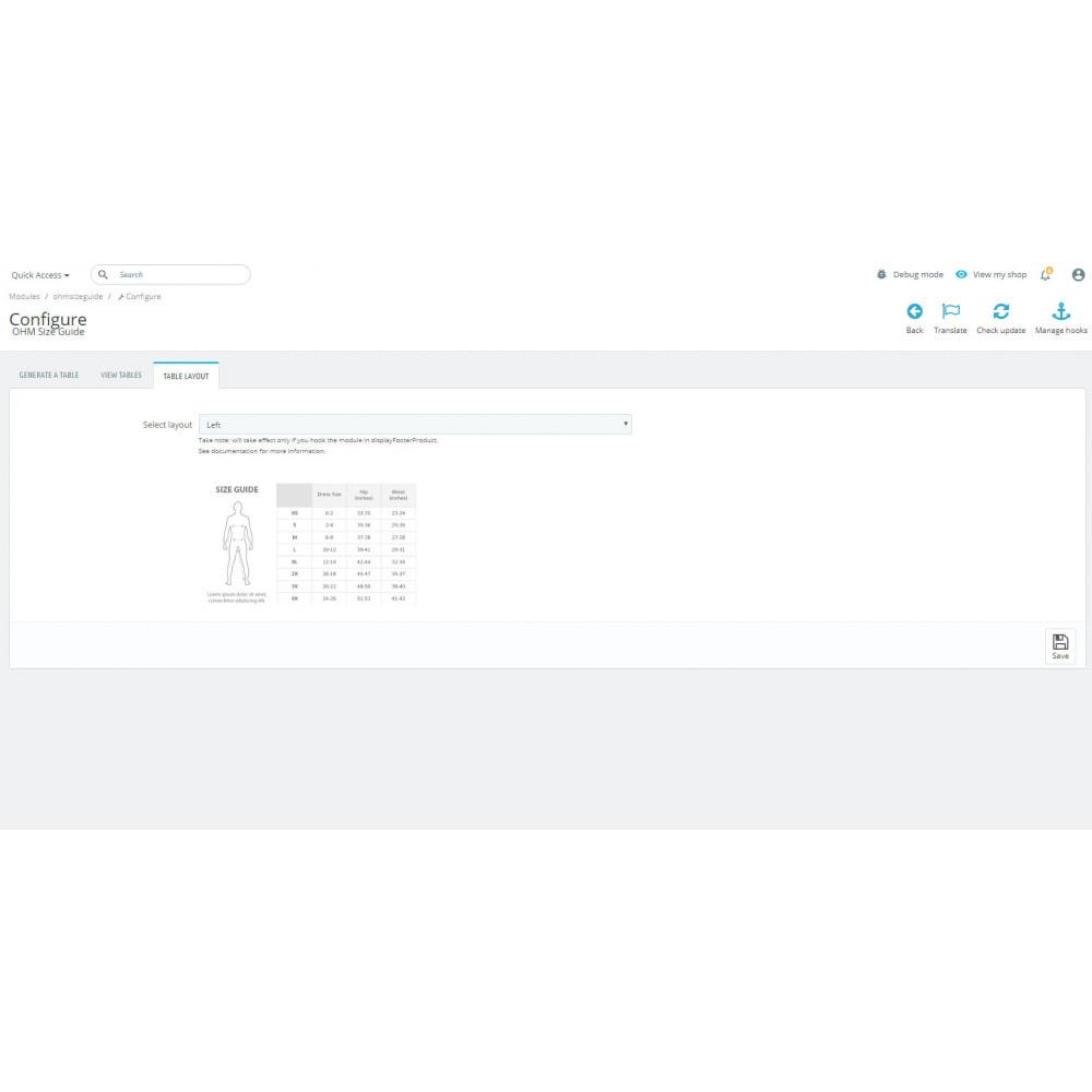 module - Omvang en eenheden - OHM Size Guide - 2