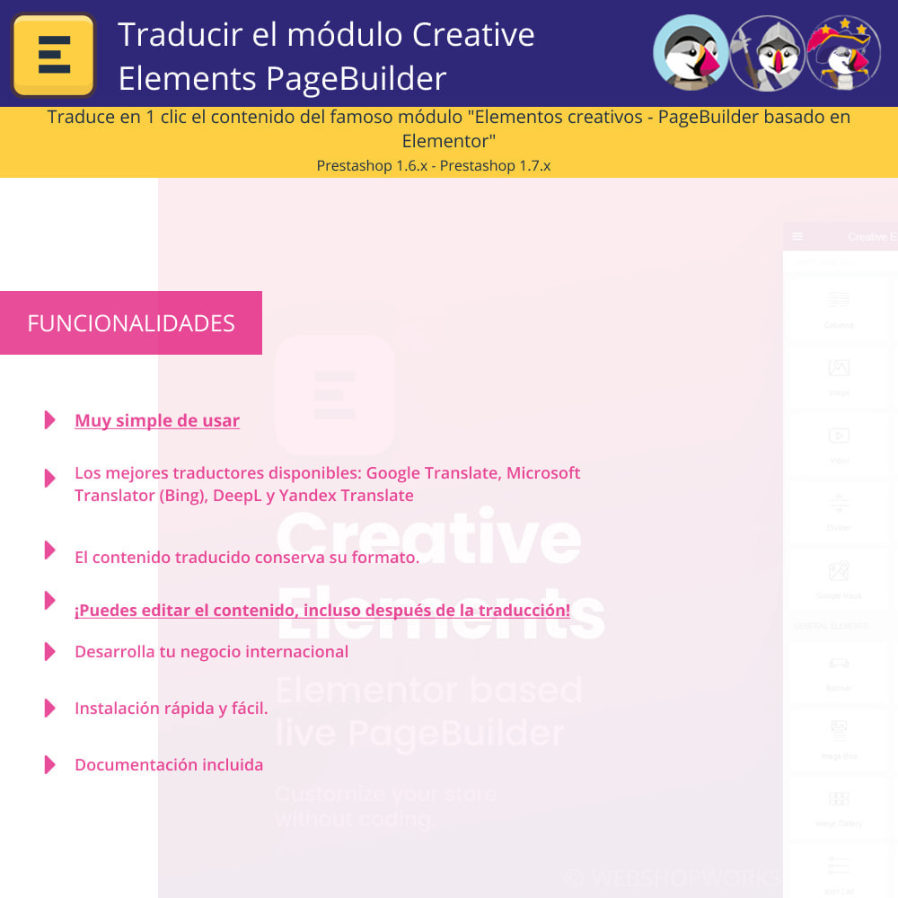 module - Internacionalización y Localización - Traducir Elementor (Creative Elements e Iqit) - 1