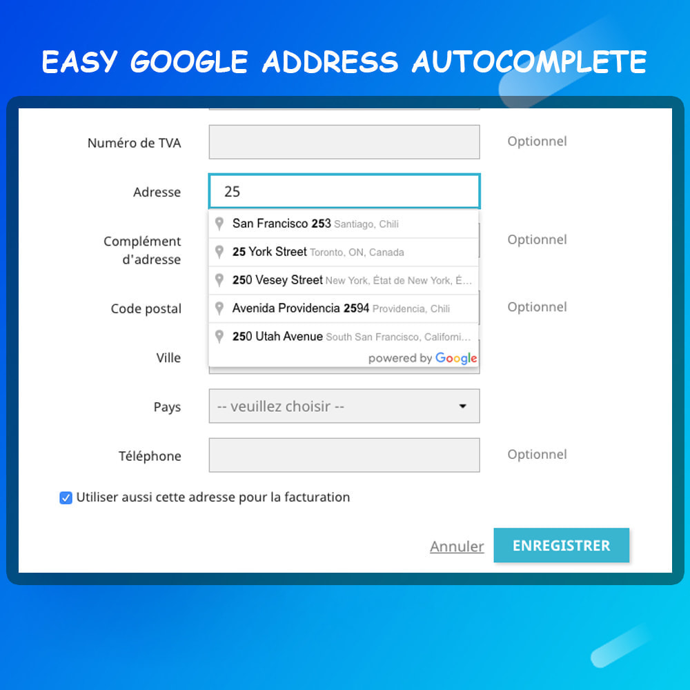 module - Registration & Ordering Process - Autocomplete Google Address - 2