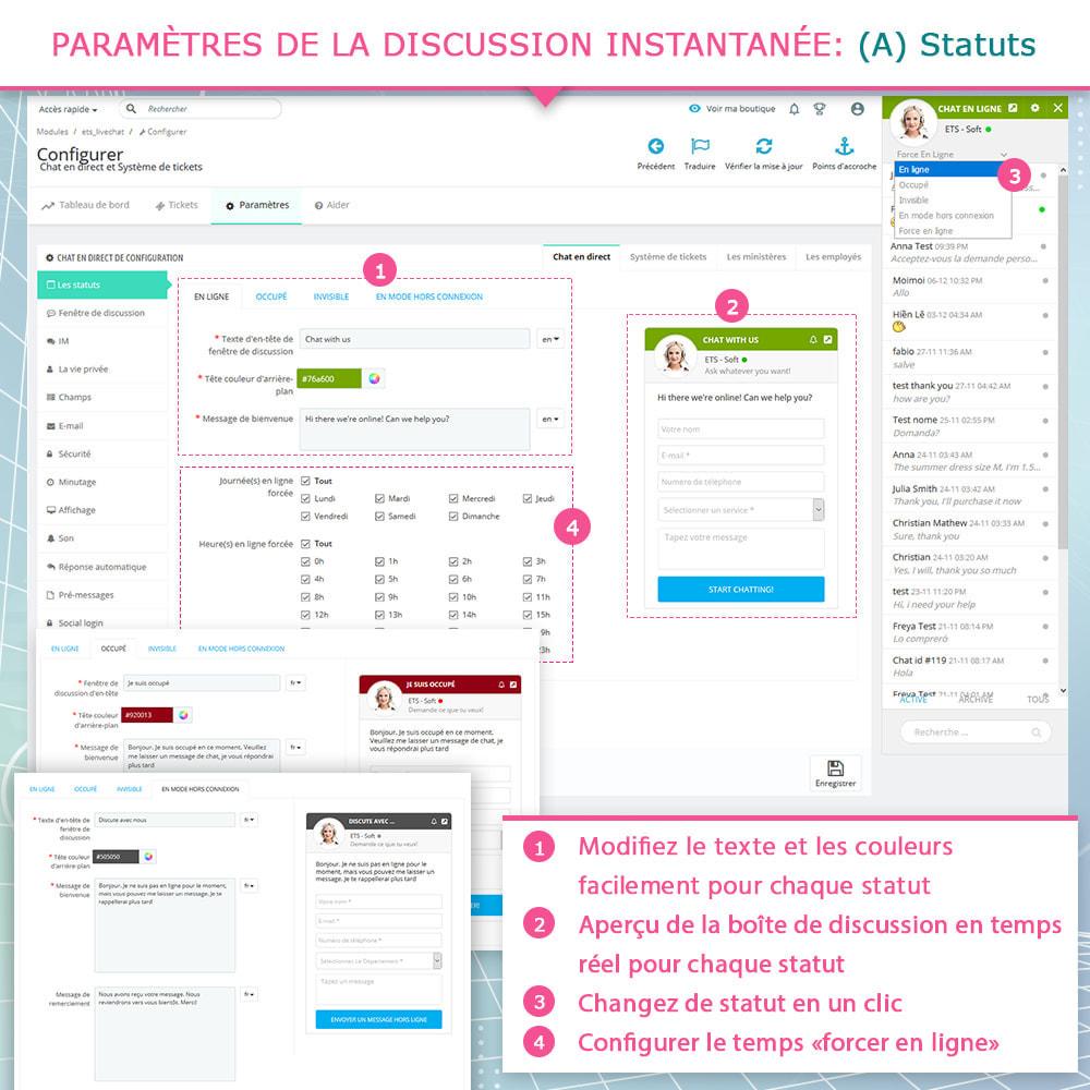 module - Support & Chat Online - Live chat, Formulaire de contact et Système de tickets - 4