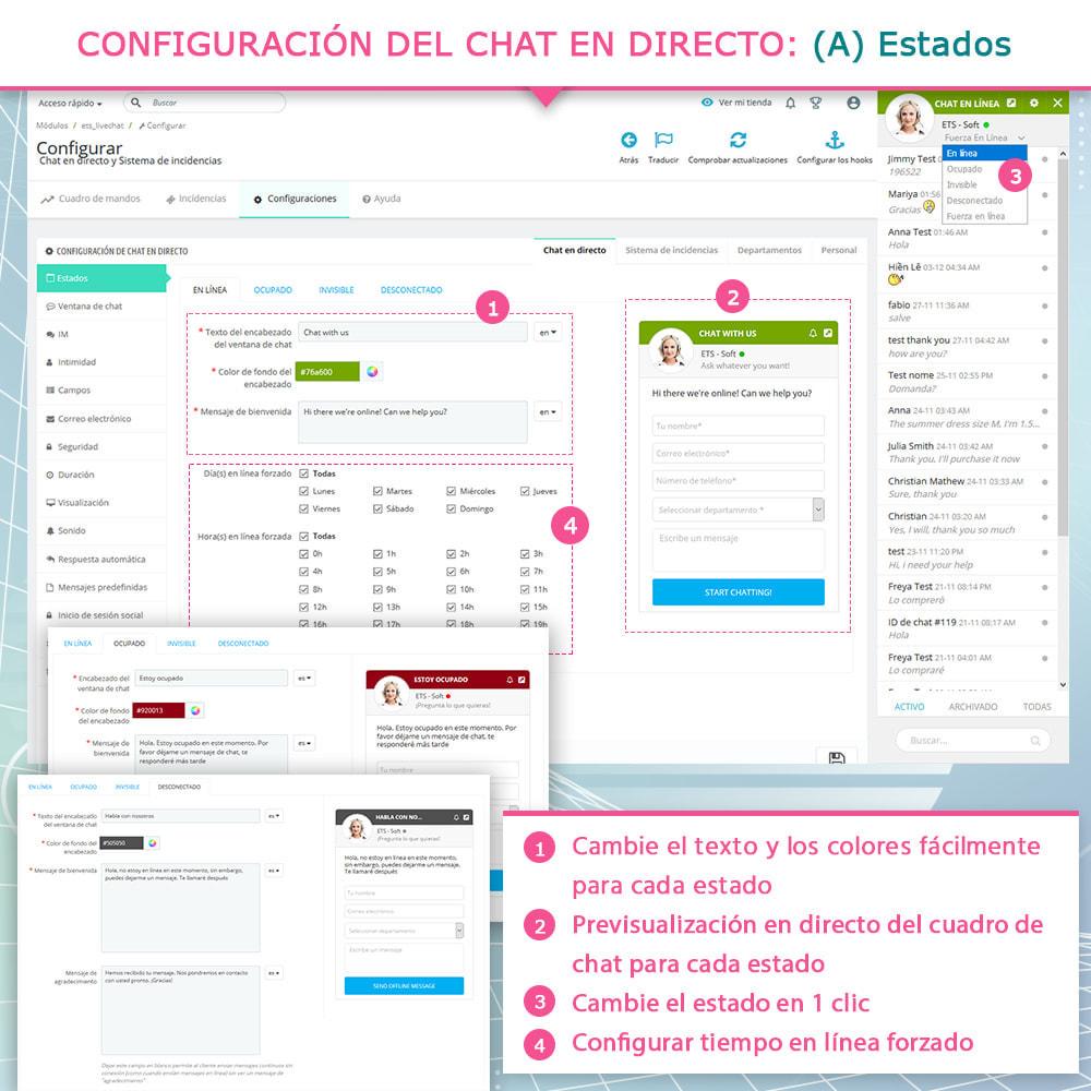 module - Asistencia & Chat online - Live chat, formulario de contacto y sistema de ticket - 4