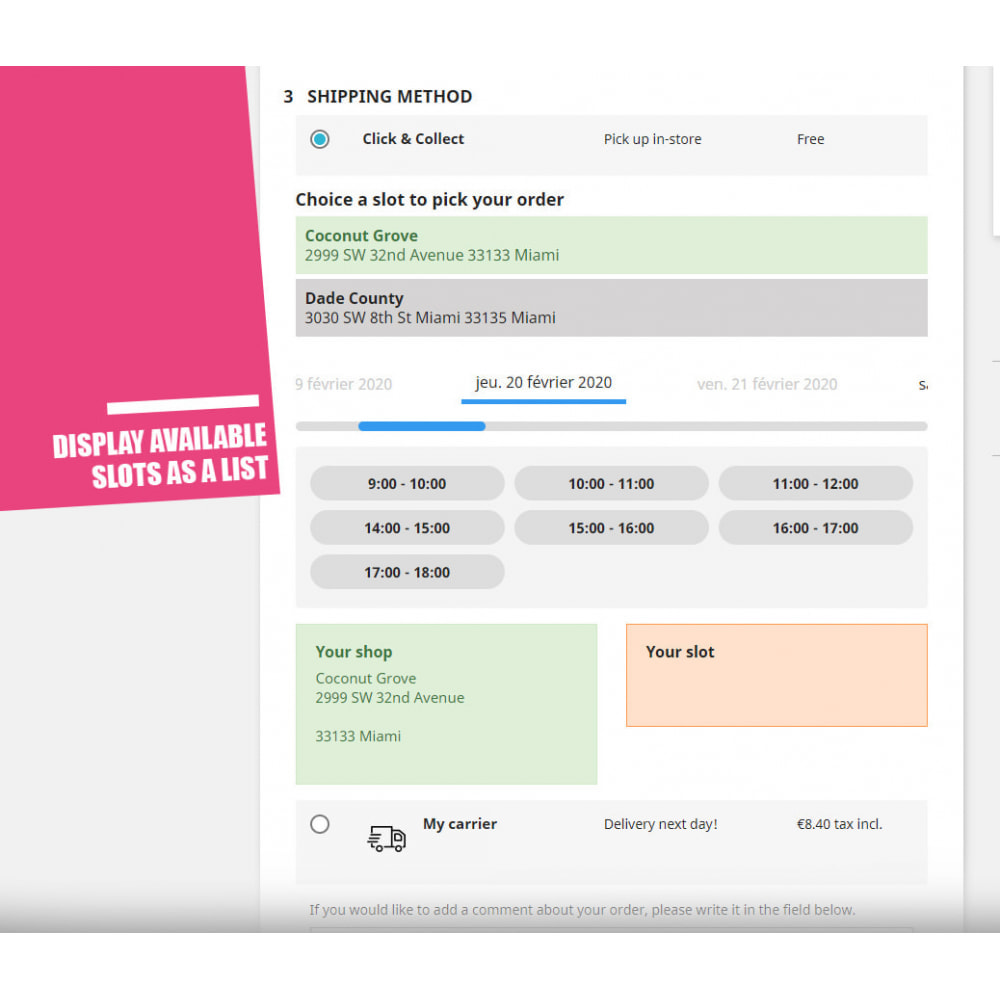 module - Пункты выдачи и Получение в магазине - Drive and Click & Collect / Pick up in-store - 6