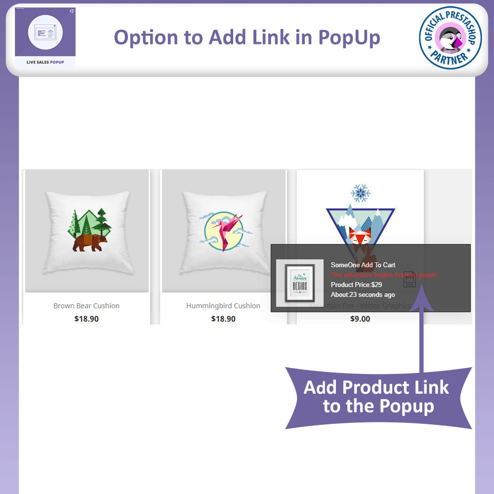 module - Pop-up - Live Sales Popup   Sold Product Notification - 4