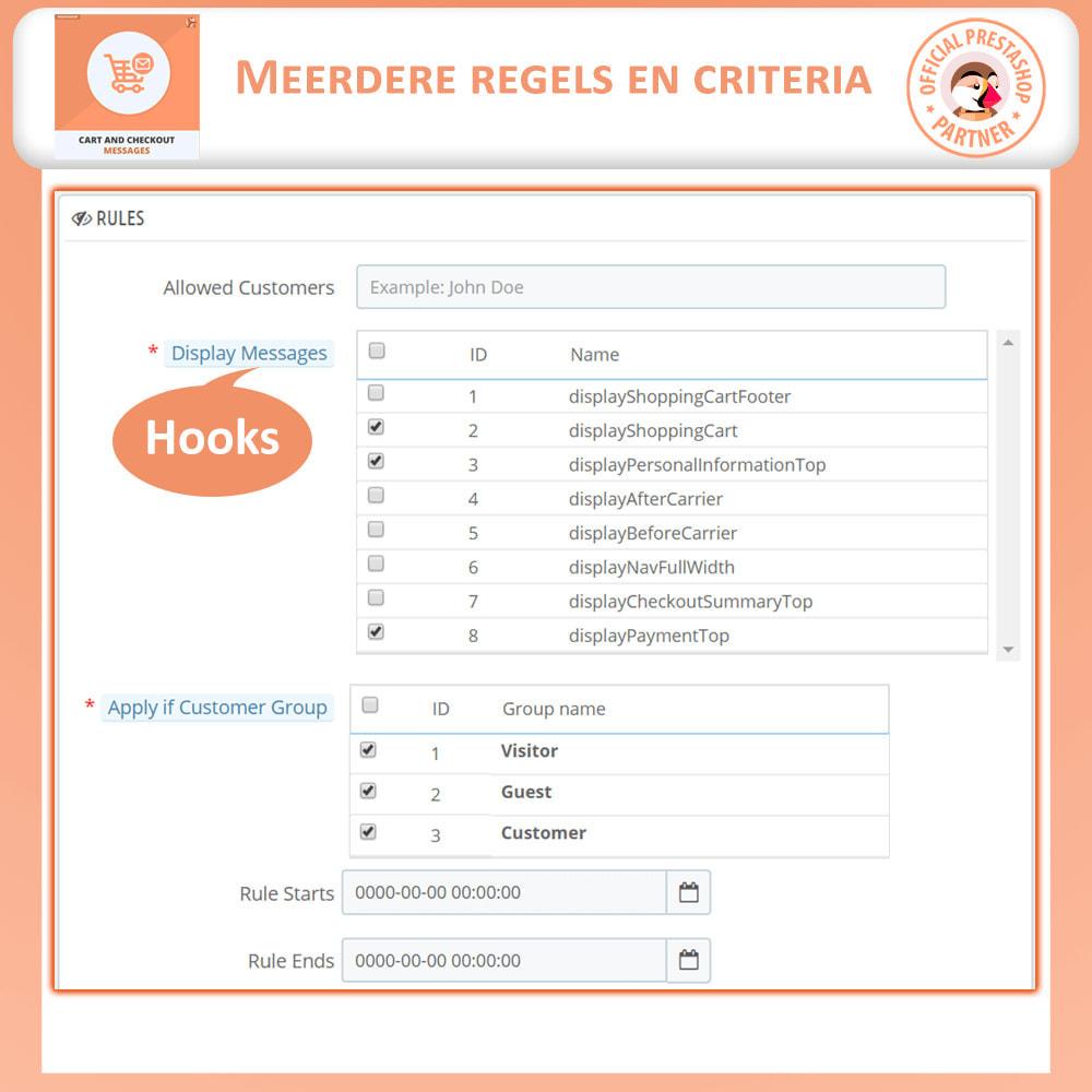 module - Registratie en Proces van bestellingen - Winkelwagen en Afrekenen Berichten - 6