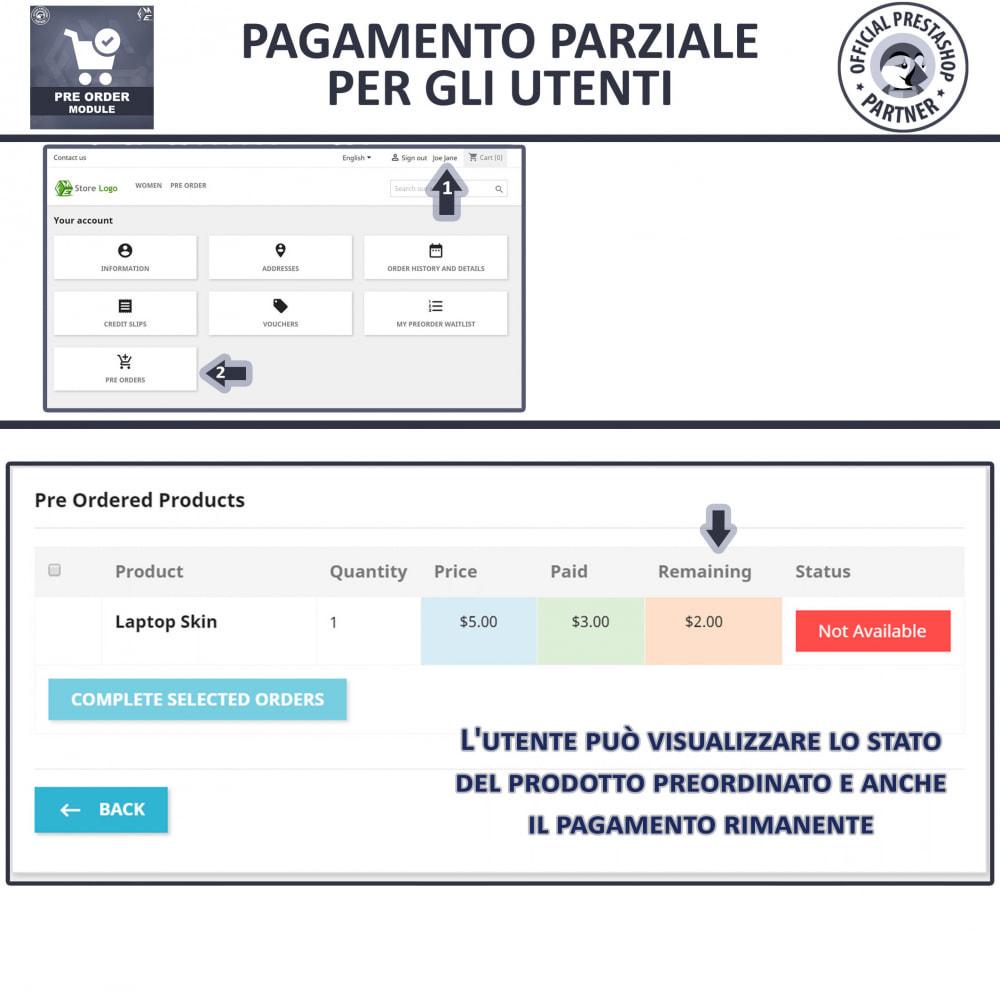 module - Iscrizione e Processo di ordinazione - Pre-Order - Advance Booking   Out of Stock Selling - 8